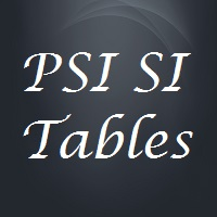 mpeg psi dvb si tables