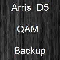 arris d5 qam backup config