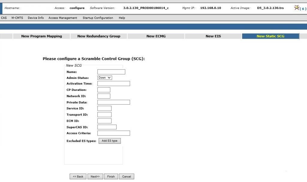 arris d5 new static scg - Arris D5 QAM Scrambling Configuration