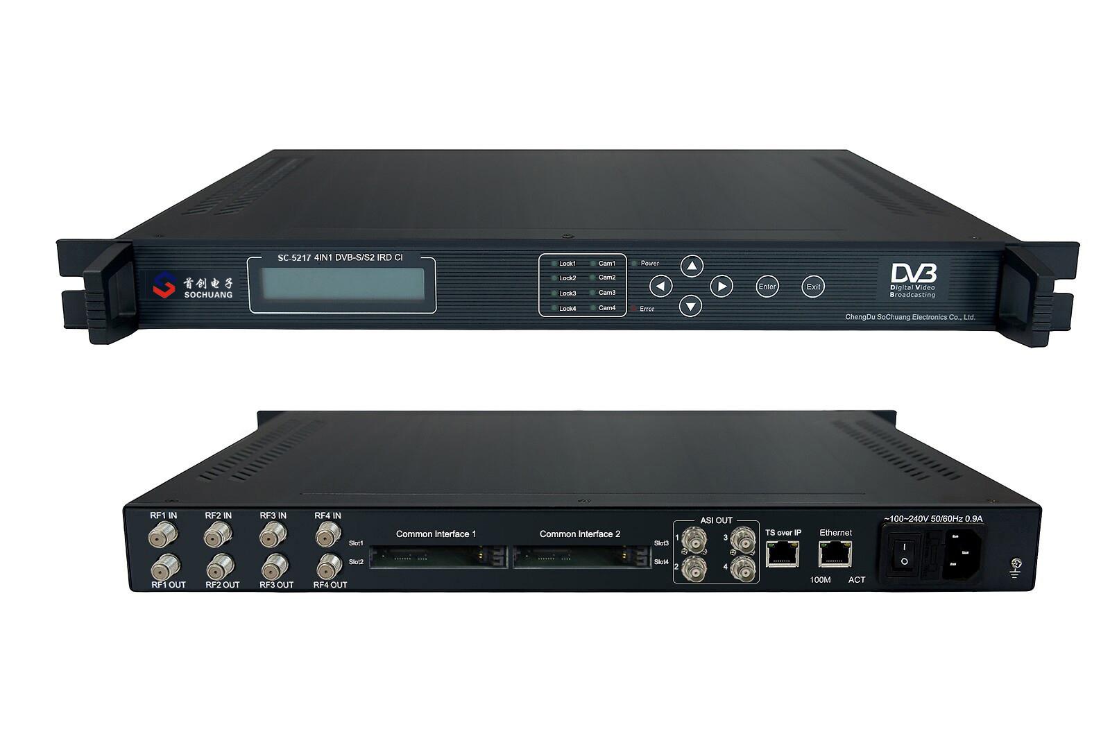 SC-5117 4in1 DVB-C CI IP IRD