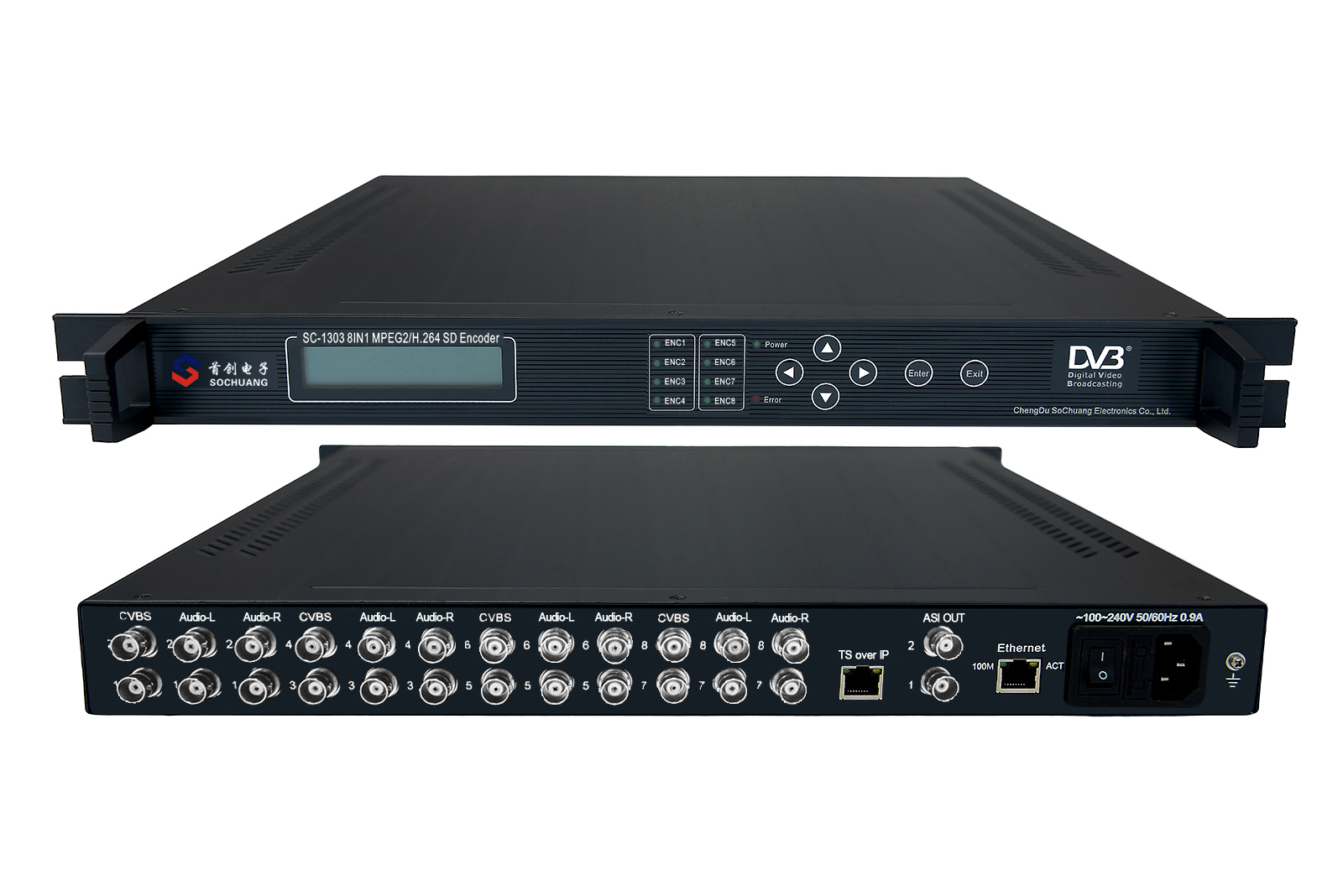 SC-1303 SD 8 Channel Low Bitrate MPEG2/H.264 Encoder
