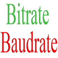 bitrate baudrate difference